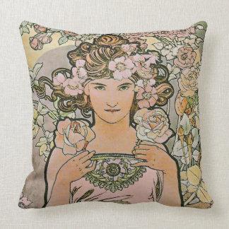 Bella arte color de rosa del florista cojin