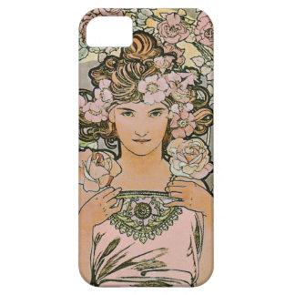 Bella arte color de rosa del florista iPhone 5 carcasas
