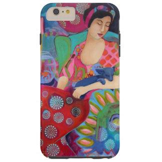 Bella arte colorida de la belleza del iphone 6 del funda para iPhone 6 plus tough