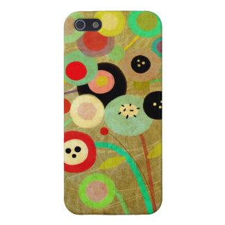 Bella arte colorida de las amapolas iPhone 5 coberturas