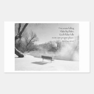 Bella arte con palabras de la sabiduría pegatina rectangular