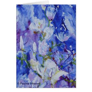 Bella arte contemporánea de la magnolia del © P Tarjeta De Felicitación