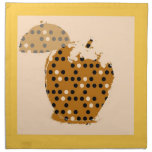 Bella arte de Apple del vintage Servilletas Imprimidas