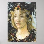 Bella arte de Botticelli de la flora (detalle de Póster