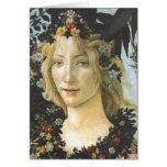 Bella arte de Botticelli de la flora (detalle de Tarjeta Pequeña