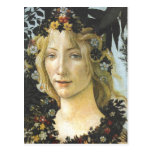 Bella arte de Botticelli de la flora (detalle de Tarjetas Postales