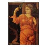 Bella arte de Burne Jone Sybilla Delphica Tarjetón