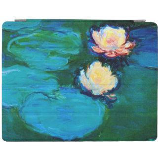 Bella arte de Claude Monet de dos de agua flores Cubierta De iPad