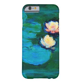 Bella arte de Claude Monet de dos de agua flores Funda Para iPhone 6 Barely There