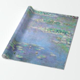 Bella arte de Claude Monet de los lirios de agua Papel De Regalo