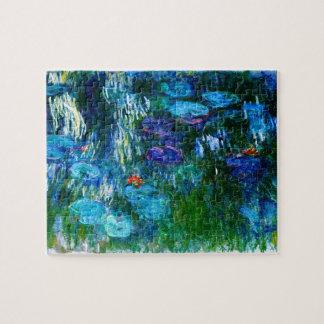 Bella arte de Claude Monet de los lirios de agua Puzzle