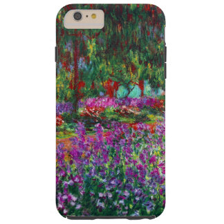 Bella arte de Claude Monet del jardín de flores Funda De iPhone 6 Plus Tough