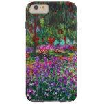 Bella arte de Claude Monet del jardín de flores Funda Para iPhone 6 Plus Tough