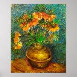 Bella arte de cobre del florero de los Fritillarie Posters