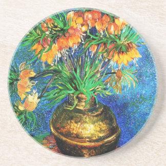 Bella arte de cobre del florero de los Fritillarie Posavasos Cerveza