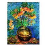 Bella arte de cobre del florero de los Fritillarie Postales