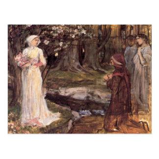 Bella arte de Dante y de Beatriz Tarjetas Postales