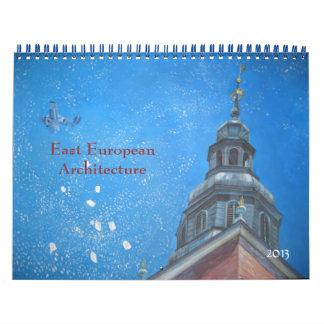 Bella arte de Europa del Este de la arquitectura Calendarios De Pared