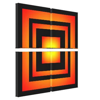 Bella arte de extensión de los cuadrados de la lona estirada galerías
