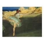 Bella arte de la bailarina de Edgar Degas Postal
