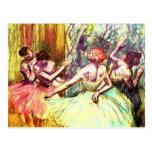 Bella arte de la bailarina de Edgar Degas Postales