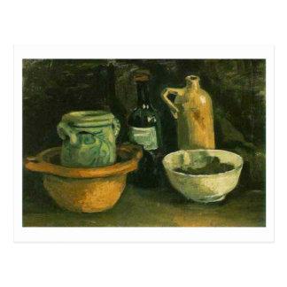 Bella arte de la cerámica de Van Gogh y de dos bot Postal