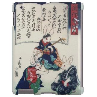 Bella arte de la epidemia del conejo de Kuniyoshi