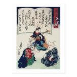 Bella arte de la epidemia del conejo de Kuniyoshi Postales
