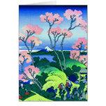 Bella arte de la flor de cerezo de la colina de Go Tarjetón