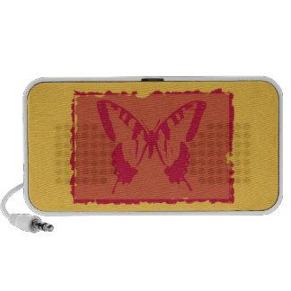 Bella arte de la mariposa del vintage mini altavoces