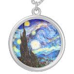 Bella arte de la noche estrellada de Van Gogh Colgante Redondo