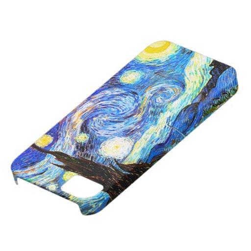 Bella arte de la noche estrellada de Van Gogh Funda Para iPhone SE/5/5s