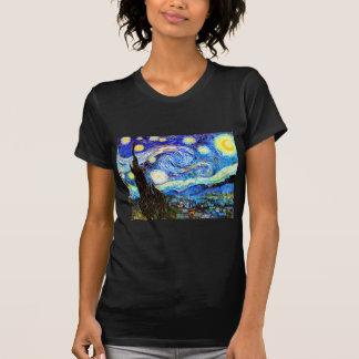 Bella arte de la noche estrellada de Van Gogh Playera