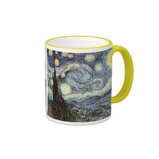 Bella arte de la noche estrellada de Van Gogh Taza De Dos Colores