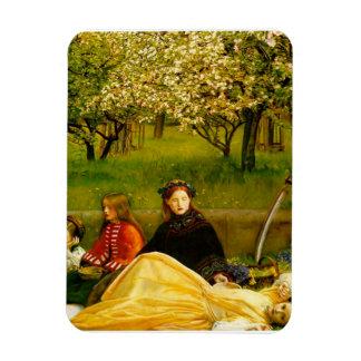 Bella arte de la primavera de los flores de Apple Iman