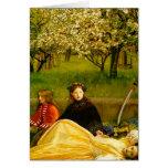 Bella arte de la primavera de los flores de Apple Tarjeton