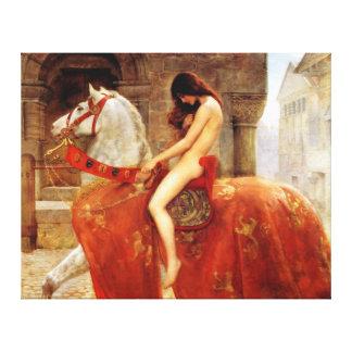 Bella arte de Lady Godiva del minero de Juan Impresiones En Lona