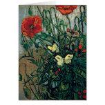 Bella arte de las amapolas y de las mariposas de V Felicitación