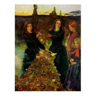 Bella arte de las hojas de otoño tarjeta postal
