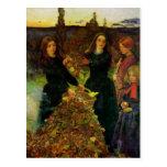 Bella arte de las hojas de otoño tarjetas postales