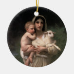 Bella arte de Les Agneaux Ornaments Para Arbol De Navidad