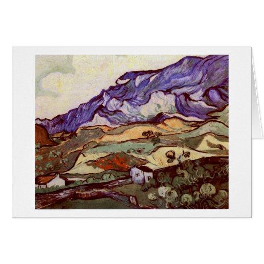 Bella arte de Les Alpilles (F724) Van Gogh Tarjeta Pequeña