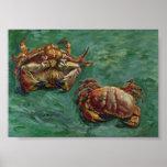 Bella arte de los cangrejos de Van Gogh dos (F606) Impresiones