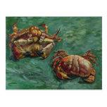 Bella arte de los cangrejos de Van Gogh dos (F606) Tarjeta Postal