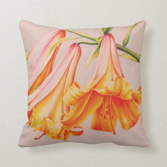 """Bella arte de los """"lirios"""" por la almohada cojín decorativo"""