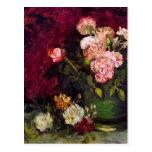 Bella arte de los Peonies y de los rosas del cuenc Tarjetas Postales