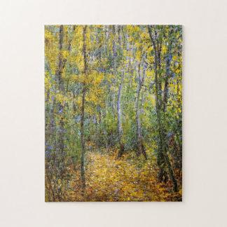Bella arte de madera de Monet del carril Puzzle