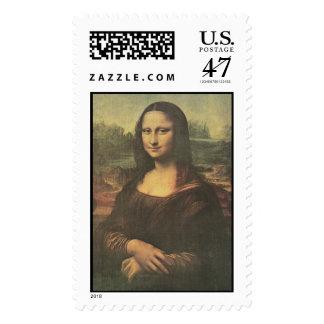 Bella arte de Mona Lisa Leonardo da Vinci Estampilla