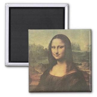 Bella arte de Mona Lisa Leonardo da Vinci Imán Cuadrado