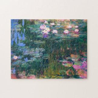 Bella arte de Monet de la charca del lirio de agua Puzzle